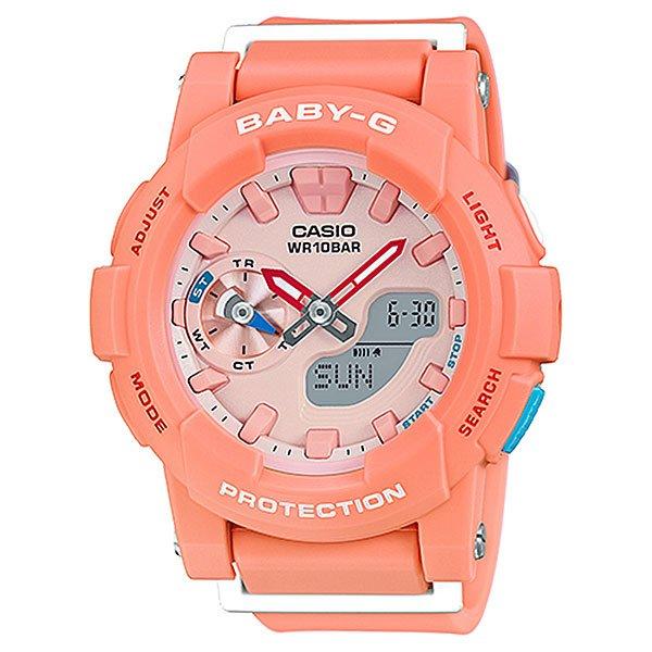 Кварцевые часы женские Casio Baby-g BGA-185-4A Pink/OrangeНаручные часы в классическом спортивном дизайне с функциональными стрелками и стандартным набором необходимых опций на каждый день.Технические характеристики: Светодиодная подсветка.Ударопрочная конструкция защищает от ударов и вибрации.Функция мирового времени.Функция секундомера- 1/100 сек. - 1 час.Таймер - 1/1 мин. - 24 часа.5 ежедневных будильников.Включение/выключение звука кнопок.Функция перемещения стрелок.Автоматический календарь.12/24-часовое отображение времени.Минеральное стекло - прочное, устойчивое к царапинам минеральное стекло защищает часы от повреждений.Корпус из полимерного пластика.Ремешок из полимерного материала.Время работы аккумулятора - 2 года.Точность +/- 30 сек в месяц.<br><br>Цвет: розовый,оранжевый<br>Тип: Кварцевые часы<br>Возраст: Взрослый<br>Пол: Женский
