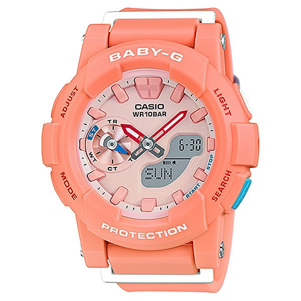 Кварцевые часы детские Casio Baby-g BGA-185-4A Pink/Orange