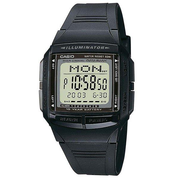 Электронные часы Casio Collection DB-36-1 BlackФункциональные наручные часы с длительным сроком службы батареи выполнены из полимерного пластика.Технические характеристики: Светодиодная подсветка.Записная книжка - 30 сохраненных имен и телефонных номеров.Дополнительный циферблат мирового времени.Функция секундомера- 1/100 сек. - 24 часа.Таймер - 1/1 мин. - 24 часа.Будильник с пятью многофункциональными звуковыми сигналами.Функция повтора будильника.Автоматический календарь.12/24-часовое отображение времени.Корпус из полимерного пластика.Ремешок из полимерного материала.Время работы аккумулятора - 10 лет.Точность +/- 30 сек в месяц.<br><br>Цвет: черный<br>Тип: Электронные часы<br>Возраст: Взрослый<br>Пол: Мужской