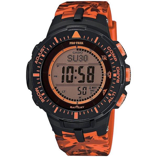 Электронные часы Casio Sport PRG-300CM-4E Black/OrangeФункциональные наручные часы в спортивном корпусе из полимерного пластика. Часы обладают широким набором опций, которые просто незаменимы при длительных поездках или путешествии, а также для людей, чей образ жизни тесно связан со спортом.Технические характеристики: Полностью автоматическая светодиодная подсветка.Устойчивый к низким температурам (-10 °C).Солнечная батарейка.Цифровой компас.Барометр (260 / 1.100 гПа).Термометр (-10°C / +60°C).Высотометр 10,000 м.График набора высоты.Память данных высотометра.Данные о восходе/закате солнца.Функция мирового времени.Функция секундомера - 1/10 сек - 1.000 часов.Таймер - 1/1 мин. - 24 часа.5 ежедневных будильников.Функция повтора будильника.Включение/выключение звука кнопок.Автоматический календарь.12/24-часовое отображение времени.Минеральное стекло.Корпус из полимерного пластика.Ремешок из полимерного материала.Индикатор уровня заряда батарейки.Точность +/- 15 сек в месяц.<br><br>Цвет: черный,оранжевый<br>Тип: Электронные часы<br>Возраст: Взрослый<br>Пол: Мужской