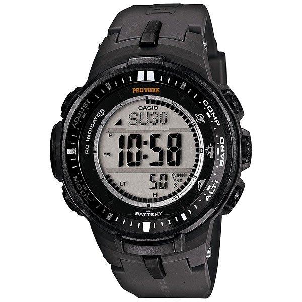 Электронные часы Casio Sport PRW-3000-1E Black часы наручные casio часы pro trek prw 3510 1e
