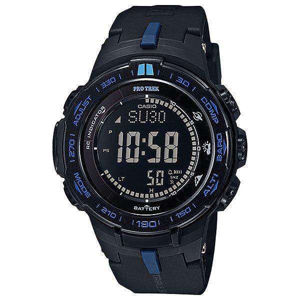 Электронные часы Casio Sport PRW-3100Y-1E NavyФункциональные наручные часы в лаконичном спортивном корпусе из полимерного пластика. Часы с отличным набором опций, которые просто необходимы каждому путешественнику!Технические характеристики: Сверх мощная полностью автоматическая светодиодная подсветка.Устойчивый к низким температурам (-10 °C).Солнечная батарейка.Прием радиосигнала (Европа, США, Япония, Китай).Барометр (260 / 1.100 гПа).Термометр (-10°C / +60°C).Цифровой компас.Высотометр 10,000 м.График набора высоты.Память данных высотометра.Данные о восходе/закате солнца.Функция мирового времени.Функция секундомера - 1/10 сек - 1.000 часов.Таймер - 1/1 мин. - 24 часа.5 ежедневных будильников.Функция повтора будильника.Включение/выключение звука кнопок.Автоматический календарь.12/24-часовое отображение времени.Минеральное стекло.Корпус из полимерного пластика.Ремешок из полимерного материала.Индикатор уровня заряда батарейки.<br><br>Цвет: синий<br>Тип: Электронные часы<br>Возраст: Взрослый<br>Пол: Мужской