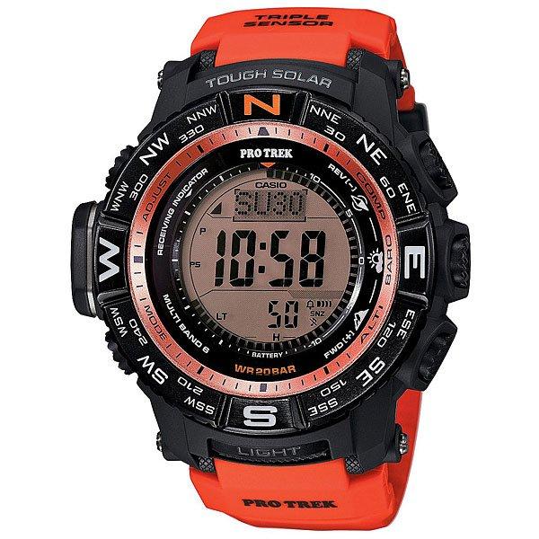 все цены на Электронные часы Casio Sport PRW-3500Y-4E Orange/Black онлайн