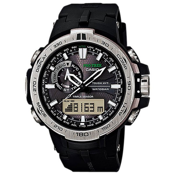 Кварцевые часы Casio Sport PRW-6000-1E BlackМужские наручные часы в стильном дизайне. Данна модель часов выполнена из современного полимерного материала и дополнена отличным набором функций, таких как технологи Smart Access, котора позволет быстро и легко произвести настройку часов.Технические характеристики: Полность автоматическа светодиодна подсветка.Устойчивый к низким температурам (-10 °C).Солнечна батарейка.Прием радиосигнала (Европа, США, Япони, Китай).Неоновый дисплей.Цифровой компас.Высотометр 10,000 м.Барометр (260 / 1.100 гПа).График набора высоты.Памть данных высотометра.Термометр (-10°C / +60°C).Функци мирового времени.Функци секундомера- 1/100 сек. - 24 часа.Таймер - 1/1 сек. - 1 час.5 ежедневных будильников.Автоматическа ручна настройка.Вклчение/выклчение звука кнопок.Технологи Smart Access - благодар системе Smart Access такие функции как секундомер, таймер обратного отчета, будильник или мировое врем просто настраиватс нажатием и вращением лектронного штифта.Функци перемещени стрелок.Автоматический календарь.12/24-часовое отображение времени.Минеральное стекло.Корпус  и ремешок из  полимерного материала.Индикатор уровн зарда батарейки.<br><br>Цвет: черный<br>Тип: Кварцевые часы<br>Возраст: Взрослый<br>Пол: Мужской