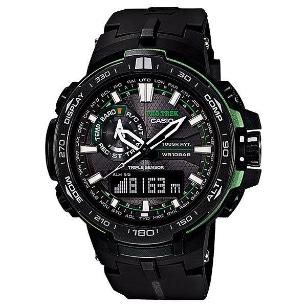 Кварцевые часы Casio Sport PRW-6000Y-1A BlackМужские наручные часы в стильном дизайне. Данная модель часов выполнена из современного полимерного материала и дополнена отличным набором функций, таких как технология Smart Access, которая позволяет быстро и легко произвести настройку часов.Технические характеристики: Полностью автоматическая светодиодная подсветка.Устойчивый к низким температурам (-10 °C).Солнечная батарейка.Прием радиосигнала (Европа, США, Япония, Китай).Неоновый дисплей.Цифровой компас.Высотометр 10,000 м.Барометр (260 / 1.100 гПа).График набора высоты.Память данных высотометра.Термометр (-10°C / +60°C).Функция мирового времени.Функция секундомера- 1/100 сек. - 24 часа.Таймер - 1/1 сек. - 1 час.5 ежедневных будильников.Автоматическая ручная настройка.Включение/выключение звука кнопок.Технология Smart Access - благодаря системе Smart Access такие функции как секундомер, таймер обратного отчета, будильник или мировое время просто настраиваются нажатием и вращением электронного штифта.Функция перемещения стрелок.Автоматический календарь.12/24-часовое отображение времени.Минеральное стекло.Корпус из полимерного пластика.Ремешок из карбона и полимерного материала.Индикатор уровня заряда батарейки.<br><br>Цвет: черный<br>Тип: Кварцевые часы<br>Возраст: Взрослый<br>Пол: Мужской