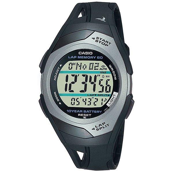 Электронные часы Casio Sport STR-300C-1 BlackПростые и функциональные спортивные часы для бега.Технические характеристики: Автоматическая светодиодная подсветка.Дополнительный циферблат мирового времени.Функция секундомера - 1/100 сек. - 100 часов.Память на 60 кругов.Метроном (Расстояние).Таймер - 1/1 мин. - 100 часов (с автоматическим повтором).5 ежедневных будильников.Функция повтора будильника.Автоматический календарь.12/24-часовое отображение времени.Сферическое стекло.Корпус из полимерного пластика.Ремешок из полимерного материала.Срок службы батареи 10 лет.Точность +/- 15 сек в месяц.<br><br>Цвет: черный<br>Тип: Электронные часы<br>Возраст: Взрослый<br>Пол: Мужской