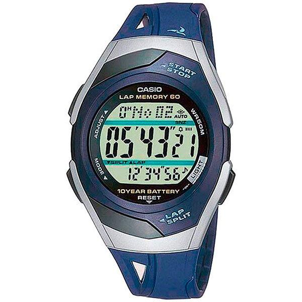 Электронные часы Casio Sport STR-300C-2 BlueПростые и функциональные спортивные часы для бега.Технические характеристики: Автоматическая светодиодная подсветка.Дополнительный циферблат мирового времени.Функция секундомера - 1/100 сек. - 100 часов.Память на 60 кругов.Метроном (Расстояние).Таймер - 1/1 мин. - 100 часов (с автоматическим повтором).5 ежедневных будильников.Функция повтора будильника.Автоматический календарь.12/24-часовое отображение времени.Сферическое стекло.Корпус из полимерного пластика.Ремешок из полимерного материала.Срок службы батареи 10 лет.Точность +/- 15 сек в месяц.<br><br>Цвет: синий<br>Тип: Электронные часы<br>Возраст: Взрослый<br>Пол: Мужской