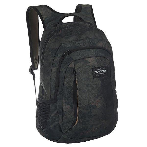 Рюкзак городской Dakine Factor Peat CamoКомпактный городской рюкзак со множеством отделений для самых разных вещей дополнен удобными плечевыми ремнями и нагрудным ремнем для удобной переноски.Технические характеристики: Материал - полиэстер 600D.Основное отделение на молнии.Мягкий карман для ноутбука 14.Сетчатые боковые карманы.Карман на флисовой подкладке для солнцезащитных очков.Эргономичные плечевые ремни с ручкой.Регулируемый нагрудный ремень.Логотип Dakine.<br><br>Цвет: зеленый<br>Тип: Рюкзак городской<br>Возраст: Взрослый