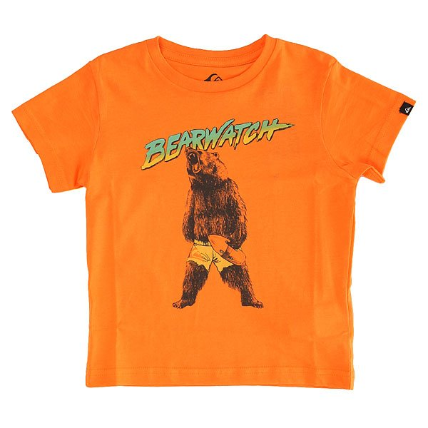 Футболка детская Quiksilver Bearwatch K Tees Orange Pop