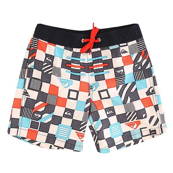 Шорты пляжные детские Quiksilver Checkeredvl Y15 Checkered Volley Whi