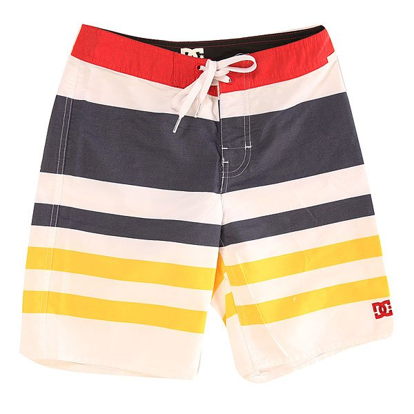 Шорты пляжные детские DC Ocean Hill Ocean White<br><br>Цвет: синий,белый,желтый<br>Тип: Шорты пляжные<br>Возраст: Детский