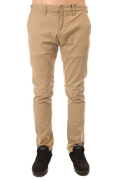 Штаны узкие DC Wrk Slm Chno 32 Khaki<br><br>Цвет: бежевый<br>Тип: Штаны узкие<br>Возраст: Взрослый<br>Пол: Мужской