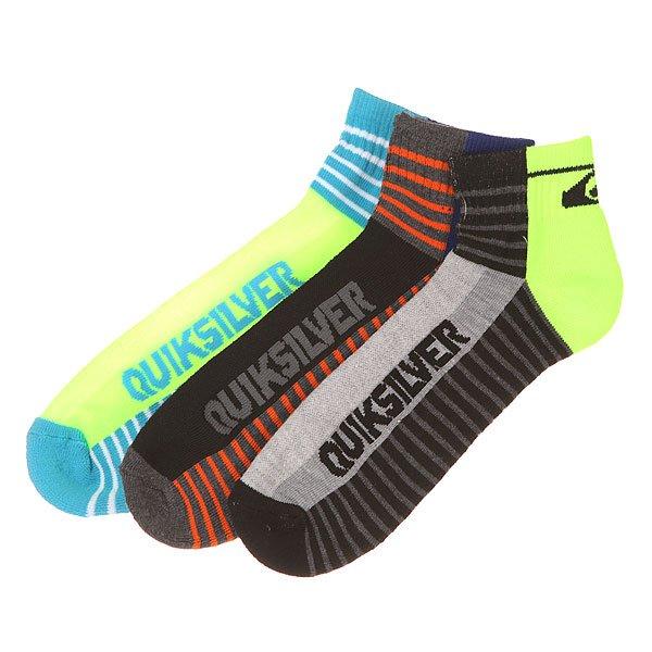 Комплект носков Quiksilver Diagnal Logo Constripe Qtr Multi