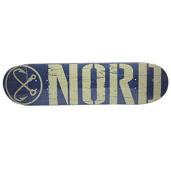 Дека для скейтборда для скейтборда Nord Logo Blue/Beige 31.75 x 8 (20.3 см) абсурд дека для скейтборда абсурд logo 1 green 8х32