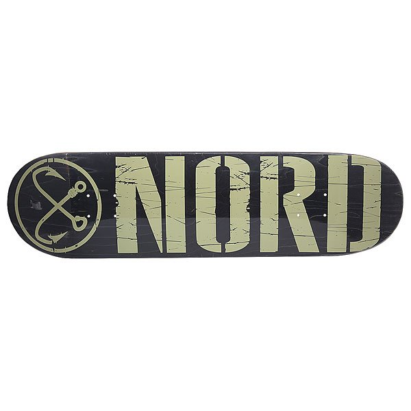 Дека для скейтборда для скейтборда Nord Logo Black/Beige 32.5 x 8.5 (21.6 см) абсурд дека для скейтборда абсурд logo 1 green 8х32
