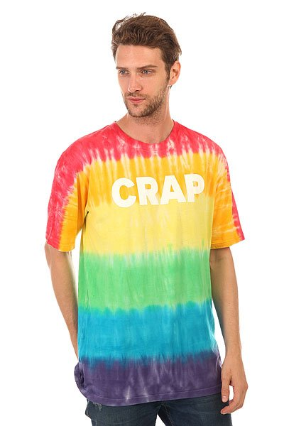 Футболка  DC Crap Tie Dye White<br><br>Цвет: мультиколор<br>Тип: Футболка<br>Возраст: Взрослый<br>Пол: Мужской