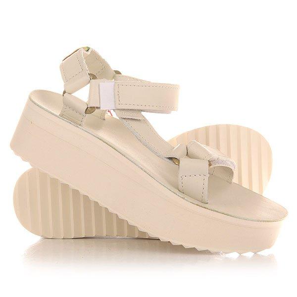 Сандалии женские Teva Flatform Universal Crafted White<br><br>Цвет: белый<br>Тип: Сандалии<br>Возраст: Взрослый<br>Пол: Женский