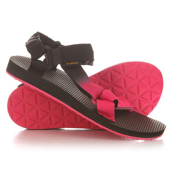 Сандалии женские Teva Original Universal Gradient Pink<br><br>Цвет: черный,розовый<br>Тип: Сандалии<br>Возраст: Взрослый<br>Пол: Женский