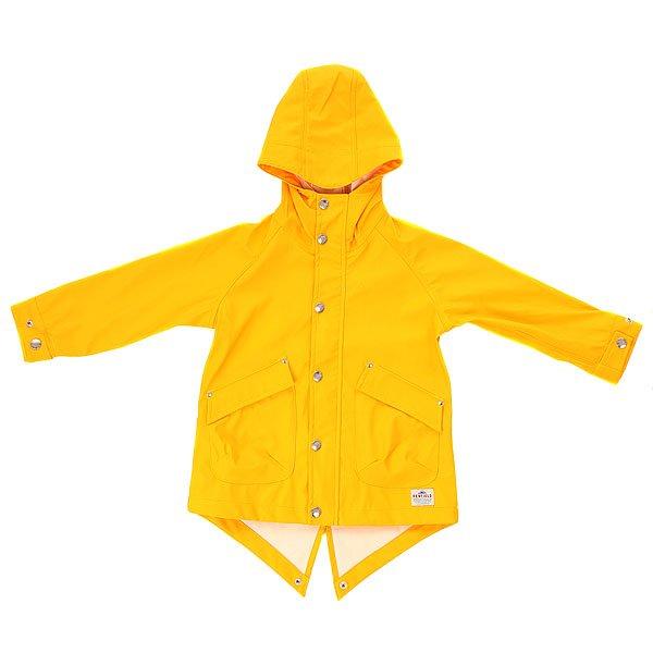Куртка детская Penfield Kingman Weatherproof Jacket YellowКуртка-дождевик от знаменитого бренда Penfield, основанного в 1975 году и вдохновленного outdoor-эстетикой. Характеристики:Плотная нейлоновая ткань с надёжным водоотталкивающим эффектом. Традиционный, удлинённый силуэт и прямой крой. Застёжка на молнии и ветрозащитный клапан на молнии. Спереди два вместительных кармана с клапаном. Регулируемые манжеты. Удобный капюшон с регулируемым шнуром.<br><br>Цвет: желтый<br>Тип: Куртка<br>Возраст: Детский