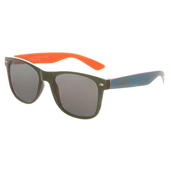 Очки TrueSpin Hongkong Green/Black/Blue/OrangeСолнцезащитные очки от немецкого бренда True Spin, выполненные в классическом силуэте. В качестве основного материала используется пластик.Характеристики:Оправа из пластика. Петли из нержавеющей стали. Ударопрочные поликарбонатные линзы. 100% защита от ультрафиолета.<br><br>Цвет: черный,зеленый,синий,оранжевый<br>Тип: Очки<br>Возраст: Взрослый<br>Пол: Мужской