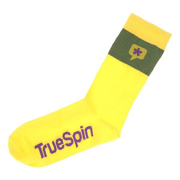 Носки средние TrueSpin Астриск Yellow<br><br>Цвет: желтый,зеленый<br>Тип: Носки средние<br>Возраст: Взрослый<br>Пол: Мужской
