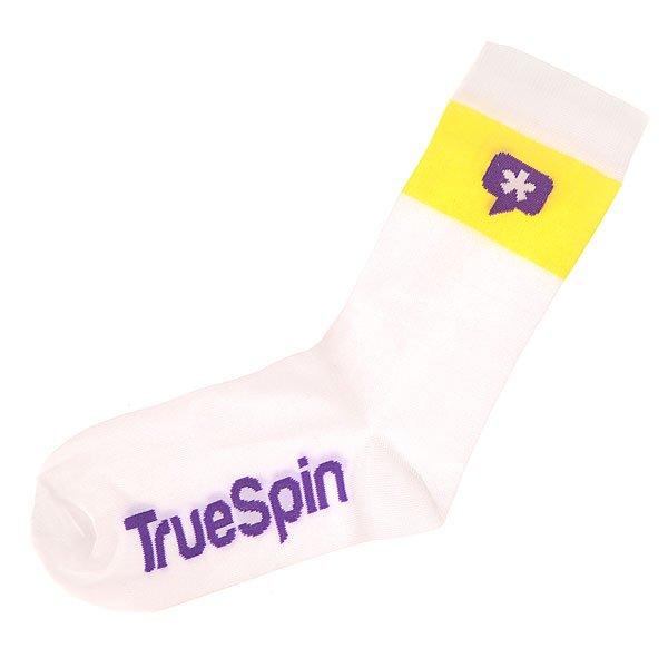 Носки средние TrueSpin Астриск White<br><br>Цвет: желтый,белый<br>Тип: Носки средние<br>Возраст: Взрослый<br>Пол: Мужской