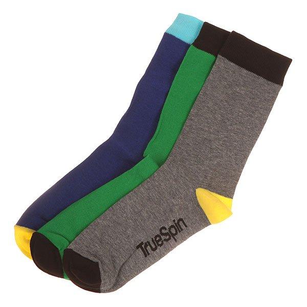 Носки средние TrueSpin Монте Колер Royal/Green/Grey<br><br>Цвет: серый,зеленый,синий<br>Тип: Носки средние<br>Возраст: Взрослый<br>Пол: Мужской
