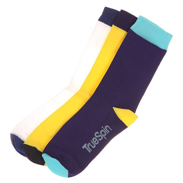 Носки средние TrueSpin Монте Колер White/Yellow/Purple<br><br>Цвет: синий,желтый,белый<br>Тип: Носки средние<br>Возраст: Взрослый<br>Пол: Мужской