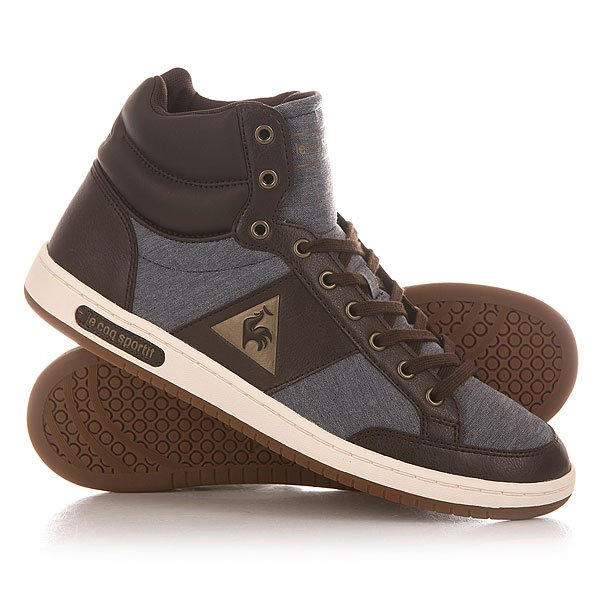 Кеды кроссовки высокие Le Coq Sportif Prestige Court Mid Chambray Dress Blues майка борцовка print bar our last night
