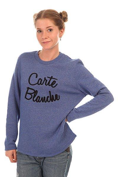 Толстовка классическая женская Le Coq Sportif Marilia Crew Sweat Heather Cobalt<br><br>Цвет: синий<br>Тип: Толстовка классическая<br>Возраст: Взрослый<br>Пол: Женский