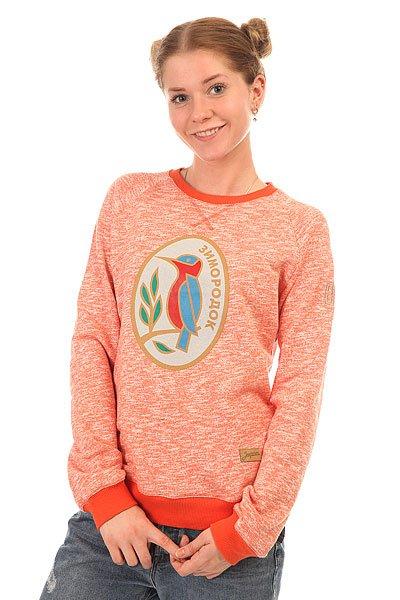 Толстовка свитшот Запорожец Зимородок Оранжевый Меланж
