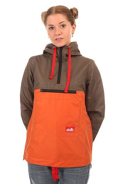 Анорак женский Skills Target 2 Khaki/Orange