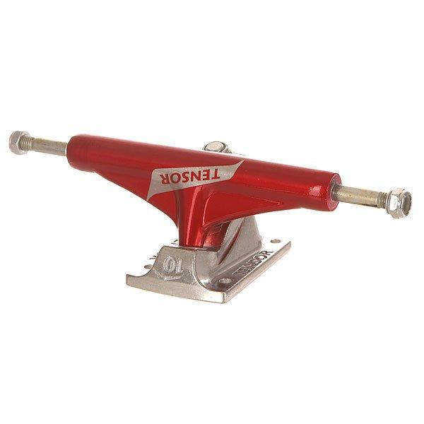 Подвеска для скейтборда Tensor Alum Reg Switch Red/Raw 5.5 (21 см)Ширина подвесок: 5.5 (21 см)    Высота подвесок: 55 мм    Цена указана за 1 шт<br><br>Цвет: серый,бордовый<br>Тип: Подвеска для скейтборда<br>Возраст: Взрослый<br>Пол: Мужской