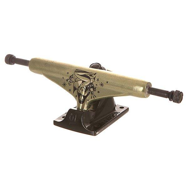 Подвеска для скейтборда Tensor Alum Reg Stewed &amp; Screwed Gold/Black 5.75 (21.6 см)Ширина подвесок: 5.75 (21.6 см)    Высота подвесок: 55 мм    Цена указана за 1 шт<br><br>Цвет: черный,желтый<br>Тип: Подвеска для скейтборда<br>Возраст: Взрослый<br>Пол: Мужской