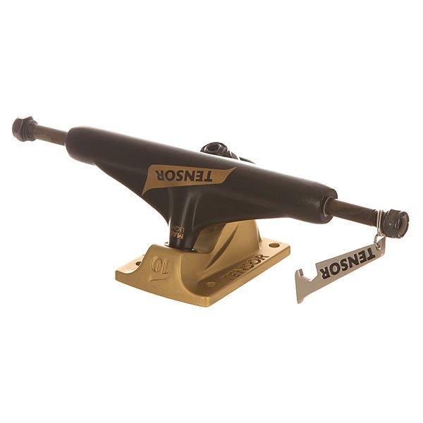 Подвеска для скейтборда Tensor Mag Light Reg Flick Black/Gold 5.75 (21.6 см)Ширина подвесок: 5.75 (21.6 см)    Высота подвесок: 55 мм    Цена указана за 1 шт<br><br>Цвет: желтый,черный<br>Тип: Подвеска для скейтборда<br>Возраст: Взрослый<br>Пол: Мужской