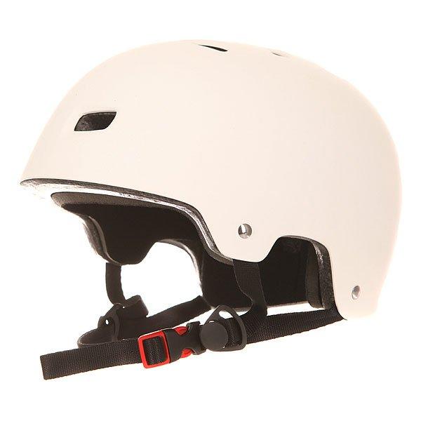 Шлем для скейтборда Bullet Deluxe Helmet Matte WhiteНовинка от компании Bullet – фирменный шлем для скейтбординга в однотонном дизайне – простота и минимализм вашего стиля.Характеристики:Супер прочная оболочка из ABS пластика. Амортизирующий наполнитель из вспененного материала EPS. 12 отверстий для вентиляции. Теплая приятная флисовая подкладка. Мягкие съемные накладки. Удобная застежка Fidlock. Накладка на ремешке из мягкого флиса. Фирменный логотип на шлеме.<br><br>Цвет: белый<br>Тип: Шлем для скейтборда<br>Возраст: Взрослый<br>Пол: Мужской