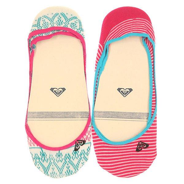 Носки низкие женсике Roxy Racer White<br><br>Цвет: розовый,голубой,белый<br>Тип: Носки низкие<br>Возраст: Взрослый<br>Пол: Женский