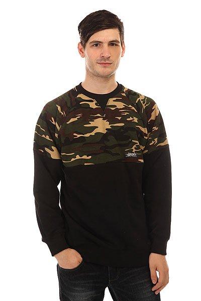 Толстовка свитшот Anteater Crewneck Combo Camo Black/Camo<br><br>Цвет: черный,зеленый,коричневый<br>Тип: Толстовка свитшот<br>Возраст: Взрослый<br>Пол: Мужской