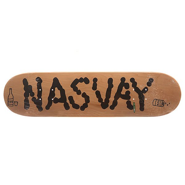 Дека для скейтборда для скейтборда Nasvay Team Board 14 Natural 31.5 x 7.8 (19.8 см)