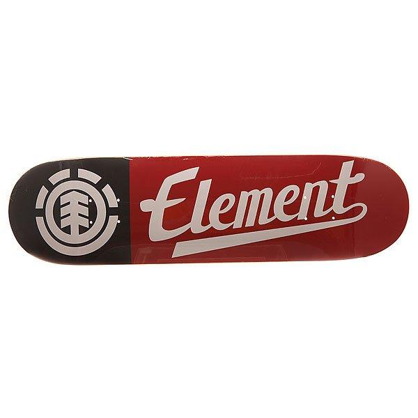 Дека для скейтборда для скейтборда Element Script Black/Red/White 31.5 x 8.25 (21 см)Ширина деки: 8.25 (21 см)    Длина деки: 31.5 (80 см)    Количество слоев: 7Дека из 7 слоев клена с классической графикой от Element.Технические характеристики: Премиум конструкция из 7 слоев клена.Длина 80 см, ширина 21 см.Тонкая и легкая конструкция.Колесная база 35,88 см.Конкейв Proformance.<br><br>Цвет: черный,белый,красный<br>Тип: Дека для скейтборда<br>Возраст: Взрослый<br>Пол: Мужской