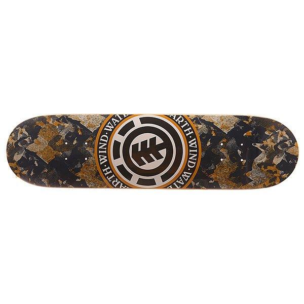 Дека дл скейтборда дл скейтборда Element Seal Seasonal Dpm Black/Orange 31.5 x 8 (20.3 см)Ширина деки: 8 (20.3 см)    Длина деки: 31.5 (80 см)    Количество слоев: 7Дека из натурального клена с традиционной графикой Element из коллекции 2016 года.Технические характеристики: Премиум конструкци из 7 слоев клена.Длина 80 см, ширина 20,3 см.Тонка и легка конструкци.Колесна база 35,56 см.Конкейв Proformance.<br><br>Цвет: черный,оранжевый,белый<br>Тип: Дека дл скейтборда<br>Возраст: Взрослый<br>Пол: Мужской