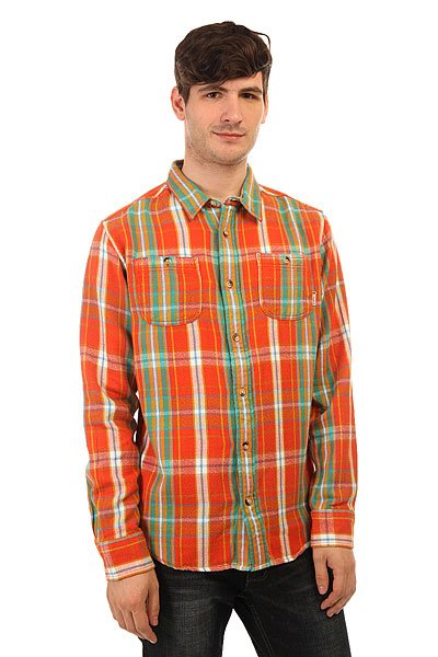 burton футболка burton mb vault ss stout white xl Рубашка в клетку Burton Mb Fairfax Woven Red Clay Essex Plaid