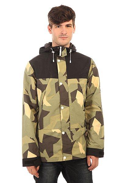 Куртка Colour Wear Rock Jacket Asymmetric OliveОтличная куртка от Colour Wear замечательно подойдет для комфортного ношения в прохладное время года.Характеристики:Мембрана: 10К. Внутренняя подкладка из тафты. Застежка – молния+кнопки. Фиксированный капюшон с регулировкой. Два боковых накладных кармана на молнии. Манжеты на липучках. Внутренний потайной карман на молнии.<br><br>Цвет: зеленый,черный<br>Тип: Куртка<br>Возраст: Взрослый<br>Пол: Мужской