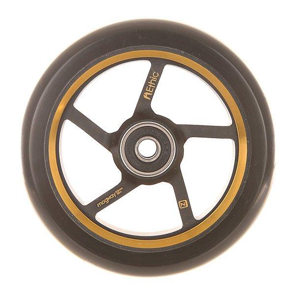 Колесо для самоката Ethic Mogway Wheel 110 Mm GoldЛегкие, стабильные и эффективные колеса из прочного алюминия 6082.Технические характеристики: Алюминиевый сплав 6082 T6 и уретан.Жесткость 88А.Диаметр 110 мм.Вес  185 г.<br><br>Цвет: черный,желтый<br>Тип: Колесо для самоката<br>Возраст: Взрослый<br>Пол: Мужской
