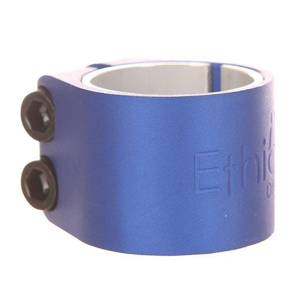 Зажимы Ethic Basic Clamp BlueЗажим для самоката из алюминиевого сплава 6061 T6.Технические характеристики: Алюминиевый сплав 6061 T6.2 винта М8.Для руля 31.8 мм и 34.9 мм.<br><br>Цвет: синий<br>Тип: Зажимы<br>Возраст: Взрослый<br>Пол: Мужской