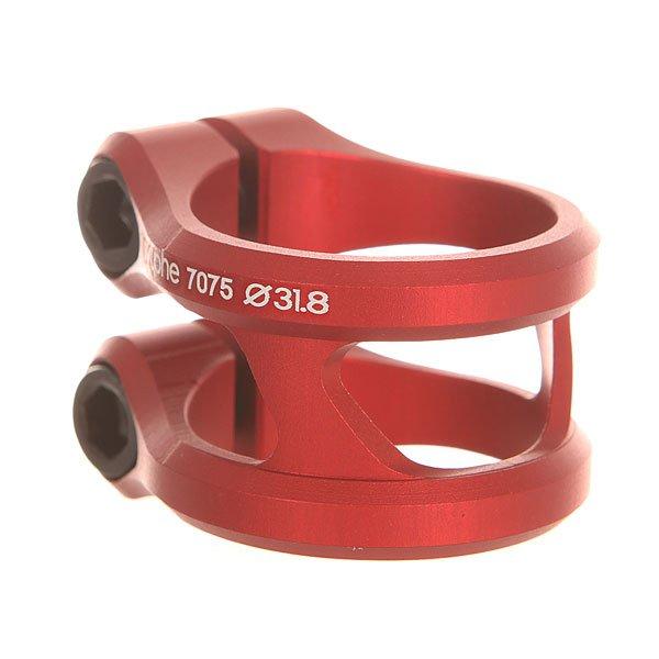 Зажимы Ethic Sylphe Clamp Double 31.8 RedДвойной алюминиевый зажим облегчённой конструкции.Характеристики:Подходит для оверсайз и стандартных рулей.Материал - алюминий. Подходит для руля 31,8 мм. 2 винта M8.<br><br>Цвет: красный<br>Тип: Зажимы<br>Возраст: Взрослый<br>Пол: Мужской