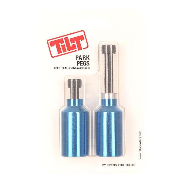 Пеги для самоката Tilt Park Pegs BlueОблегчённые алюминиевые пеги весом в 30 г каждая.Характеристики:Материал: 100% алюминий.<br><br>Цвет: синий<br>Тип: Пеги для самоката<br>Возраст: Взрослый<br>Пол: Мужской