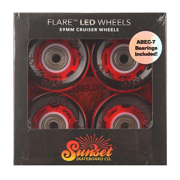Колеса для скейтборда для лонгборда Sunset Cruiser Wheel With Abec7 Merica 78A 59 mmДиаметр: 59 mm    Жесткость: 78A    Цена указана за комплект из 4-х колес<br><br>Цвет: красный<br>Тип: Колеса для лонгборда<br>Возраст: Взрослый<br>Пол: Мужской