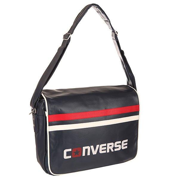 Сумка через плечо Converse Flapbag Dark BlueСтильная сумка через плечо Converse Flapbag – нетривиальное решение для поклонников истинно американского качества. Характеристики:Верх из 100%полиуретана. Внутренняя подкладка из тафты. Застежка – молния.Дополнительная защитная панель на липучке. Фиксированная регулируемая широкая ручка для ношения сумки через плечо. Внутренний потайной карман на молнии.Карман для мобильного телефона. Форм-фактор – плечевая сумка.<br><br>Цвет: синий<br>Тип: Сумка через плечо<br>Возраст: Взрослый<br>Пол: Мужской