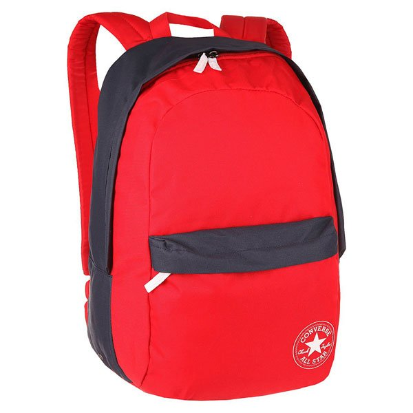 Рюкзак городской Converse Ctas Backpack Red/NavyЭтот рюкзак Convers придётся по вкусу всем модникам и просто людям, которые любят стильные вещи! Простой рюкзак без капли лишнего!Характеристики:Одно большое отделение. Передний карман на молнии. Мягкие спинка и лямки. Большая вместительность (размер:45 см х 28 см х 13 см, объем 28 литров).<br><br>Цвет: синий,красный<br>Тип: Рюкзак городской<br>Возраст: Взрослый